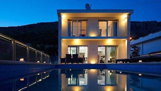Villas Split Croatia Luxury Spa Villa with pool sea view and sauna