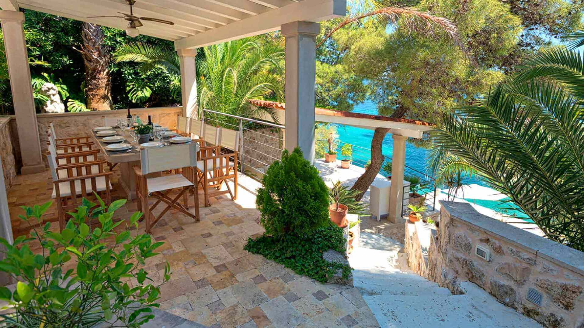 Beach Villas in Hvar Croatia with sea view by the sea