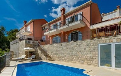Dubrovnik Riviera Villa with pool panoramic sea view