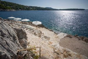 Exclusive Holiday Villa in Croatia with pool by the sea, sauna